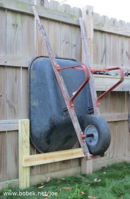 top wheelbarrow storing ideas