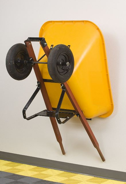 Best wheelbarrow storing ideas