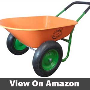 Dual wheel residential yard rover wheelbarrow