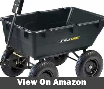 Gorilla Carts Heavy Duty Garden Poly Dump Cart