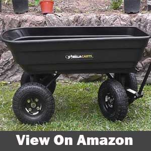 Gorilla Carts Poly Garden Dump Cart review