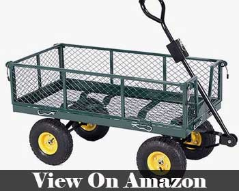 Gracelove Cart Yard Garden Wheelbarrow