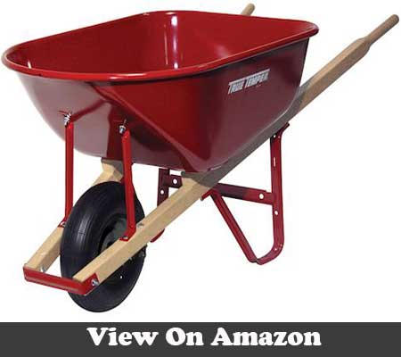 High quality wheelbarrow 6 Cu Ft with tough steel handles