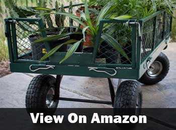 Ivation garden cart flatbed utility