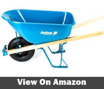 Jackson 6 Cubic foot Steel Wheelbarrow