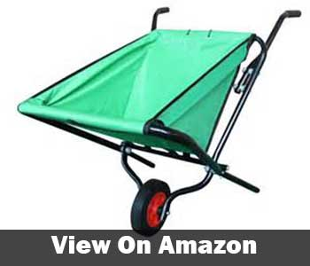 Lightweight collapsible garden wheelbarrow