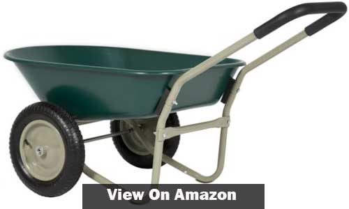 Marathon Dual Wheel Residential Wheelbarrow