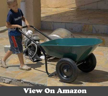 Marathon Dual Wheel Residential Yard Rover Wheelbarrow