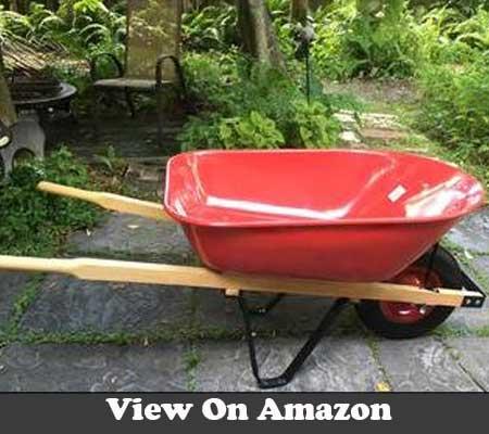 United general WH89982 heavy duty steel tray wheelbarrow