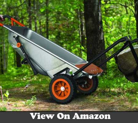 WORX aerocart multifunction 2 wheeled yard cart dolly