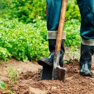 digging shovel for garden