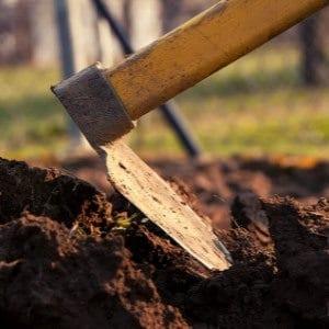 garden hoe for garden work