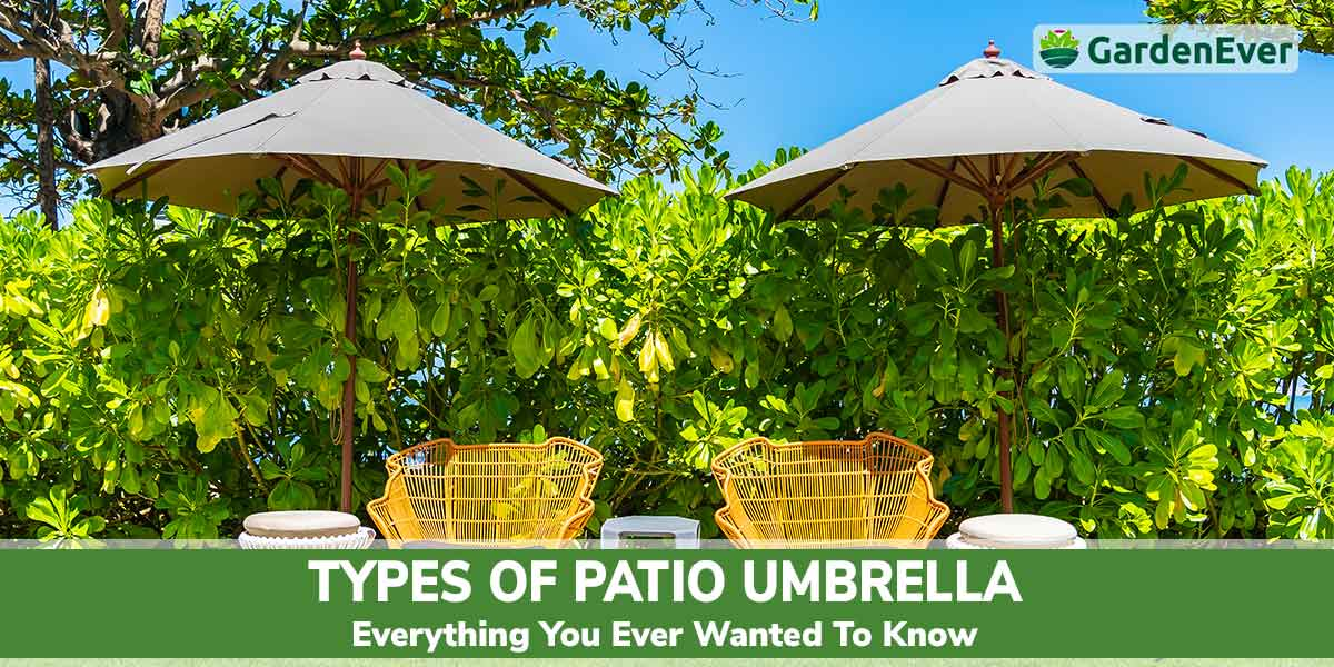 types of patio umbrella