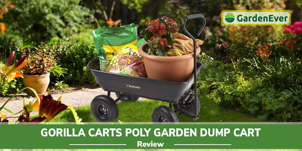 Gorilla Carts Poly Garden Dump Cart-Review