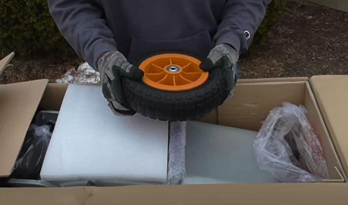 worx aerocart wheelbarrow flat free tires