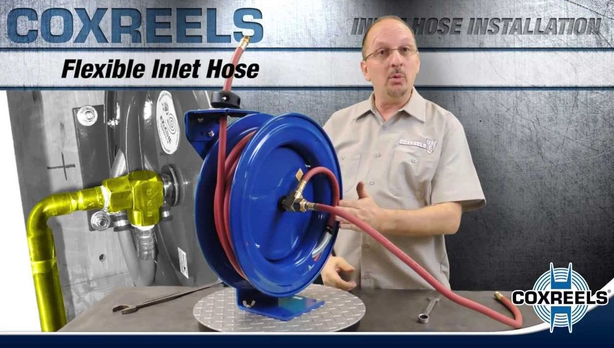install hose on a reel