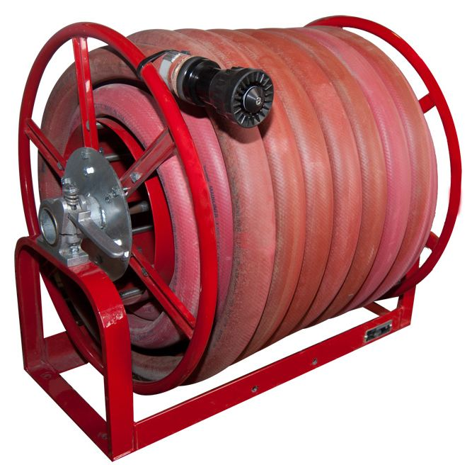 wind hose on reel
