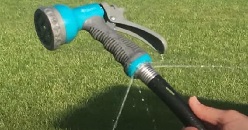 garden hose nozzle leaking