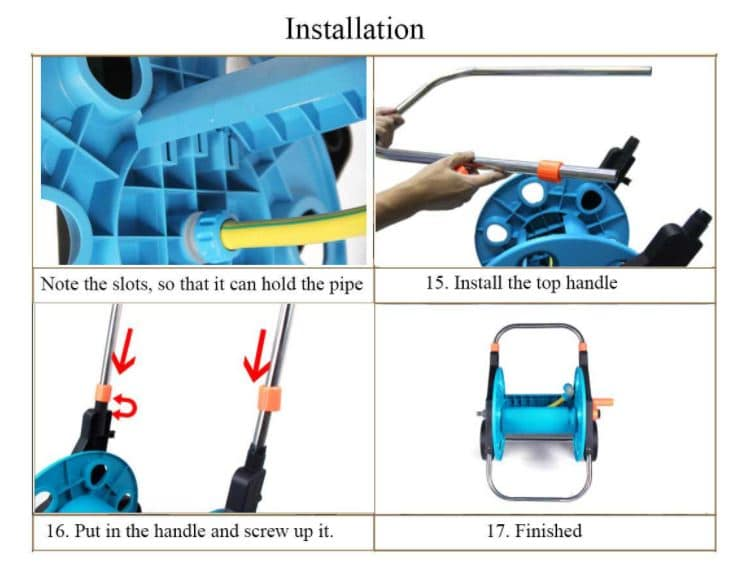 hose reel setup step 3