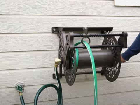 install hose on reel