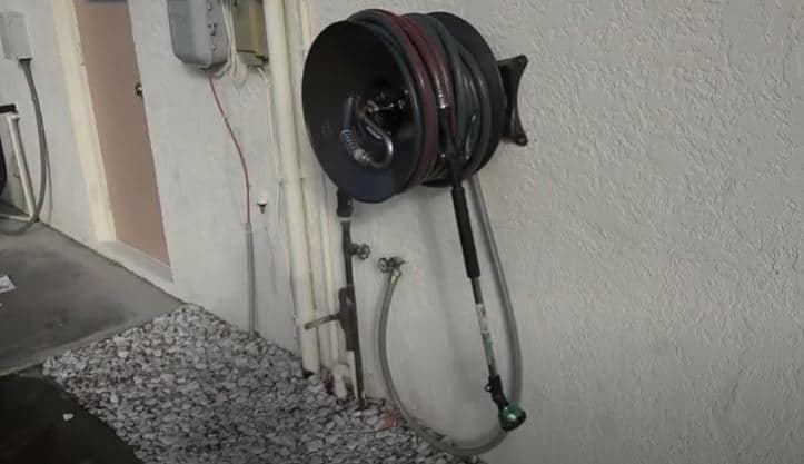select mount location for hose reel