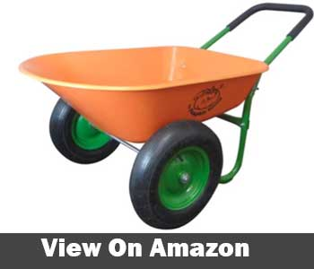Marathon dual wheel wheelbarrow