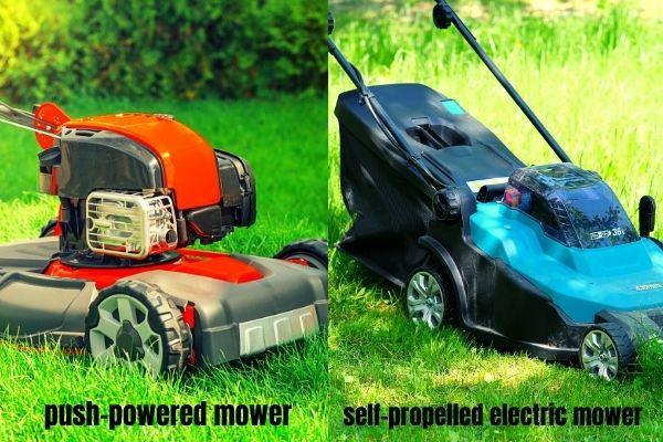 Push vs Self-propelled mower