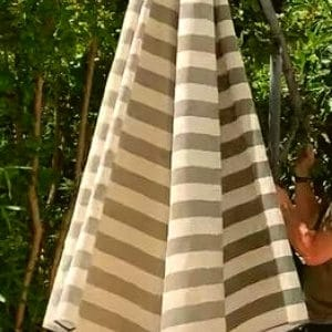 keep patio umbrella from blowing away