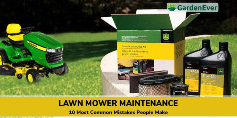 Lawn Mower Maintenance mistakes