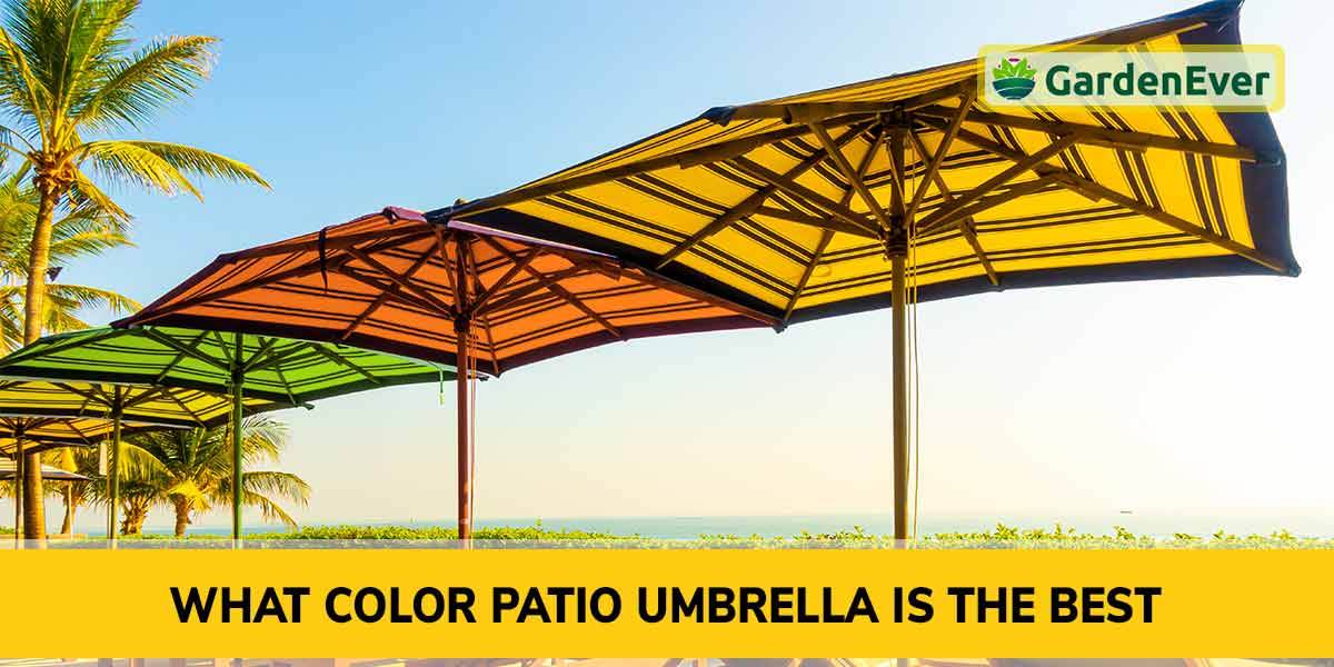 What color patio umbrella is the best