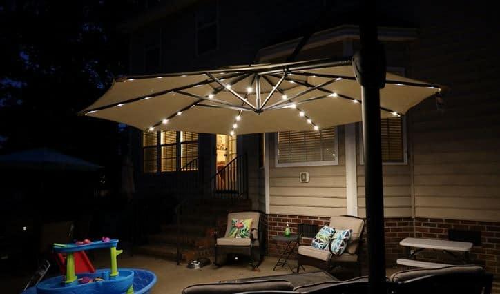patio Umbrella String Lights