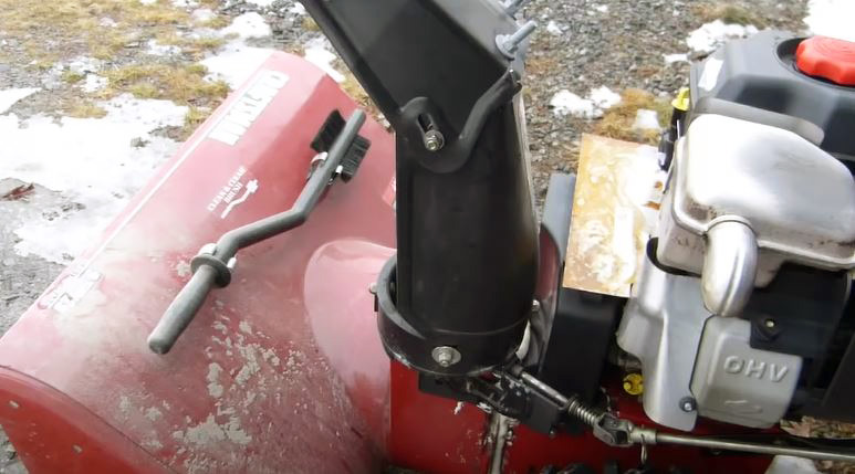 snow blower chute
