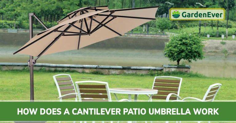 How Cantilever Patio Umbrella Works