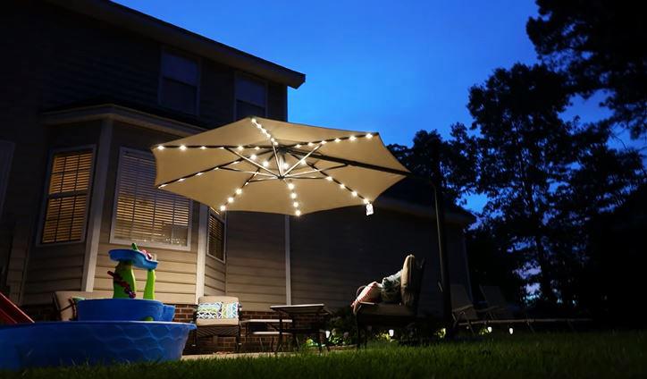illuminate your outdoor living space using patio umbrella lights