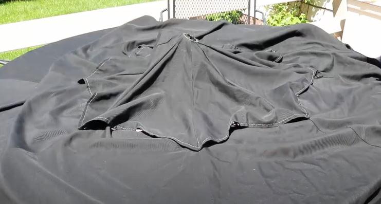 patio umbrella fabric air-drying
